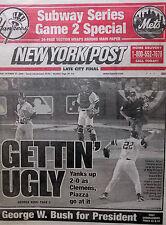 2000 YANKEES METS WORLD SUBWAY SERIES OCTOBER 23 NEW YORK POST CLEMENS PIAZZA