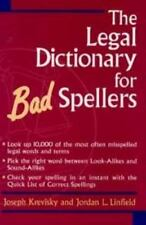 The Legal Dictionary for Bad Spellers-ExLibrary