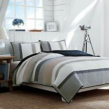 Nautica 201246 Cotton Reversible Quilt Twin Tan/Grey