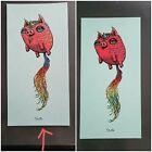 Marq Spusta 2 Mini Print UniPig Unicorn RED Pig BLUE PAPER Ships Flat