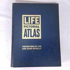Pictorial World Atlas Life Rand McNally 1961 Maps Geography