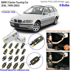 9 Bulbs LED Interior Light Kit White For BMW 3 Series E46 Touring (4-cylinder)