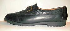 J Club Black Leather Dress Loafer Size 8 M