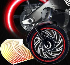 "16/17/18/19"" Reflective Rims Tape/Wheel Rim Decal Stripes Sticker Frame/Fire Red"