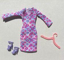 Mod Inspired Purple/Pink/Blue Floral Barbie Dress*Shoes*Hanger
