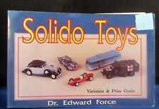 SOLIDO TOYS Variation & Price Guide Book  Edward Force  1993    C4