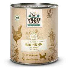 Wildes Land | Huhn mit Amaranth BIO | 6 x 800 g | Nassfutter | Hundefutter