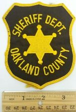 OAKLAND COUNTY, MICHIGAN SHERIFF'S DEPARTMENT PATCH vintage