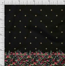 Soimoi Fabric Artistic Leaves & Flower Panel Decor Fabric Printed BTY - PN-136A