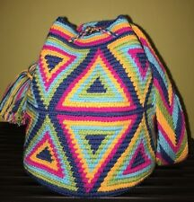 Colombian Handmade Wayuu Small Medium Shoulder Crossbody Mochila Buckets Bag NEW