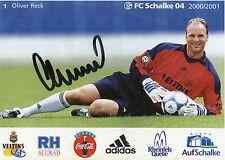 Fankarte 2000 2001 Oliver Reck FC Schalke 04 Gelsenkirchen Fussball Bundesliga