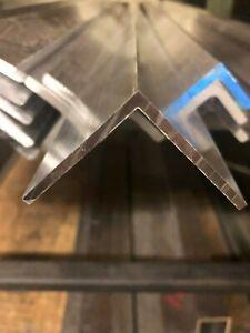 "Aluminum Angle 6063 T52 1/"" x 1/"" x 3//16/"" wall x 48/"""