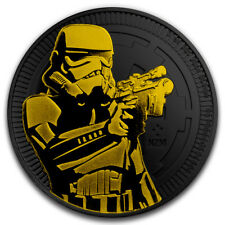 2 dólares Star Wars Stormtrooper Black Gold Edition Niue Island 1 Oz plata 2018