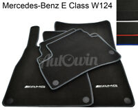 Floor Mats For Mercedes-Benz E Class W124 With AMG Logo & NEW Color Variations