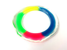 CLEAR COLORFUL CHUNKY BRACELET STATEMENT SUMMER WEAR BOLD UNIQUE BRIGHT (B3)