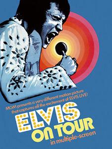 Elvis Presley - US Film poster reprint On Tour 1972