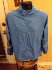 *Nike Golf Long Sleeve 1/4 Zip Pullover Shirt Blue Size L Large