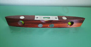 """Vintage Stanley 260 Rosewood Wood 9"""" Torpedo Level w/6 Round Insert Magnets USA"""