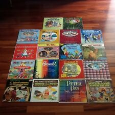 Lot Of 17 Walt Disney Famous Movies Records Soundtracks With Stories