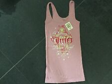 NWT Juicy Couture New Ladies & Gen.Small Pink Ribbed Cotton Sleep Tank With Logo