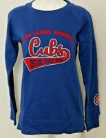 NEW Chicago Cubs Sweatshirt W M Side Zipper MLB Baseball Blue Cubbies