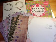Christmas paper set- inserts, gloss backing papers & 2 X paper booklets