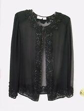 FASHION BUG:   Elegant Black Color Beaded Women's  Shirt . Size  18/20