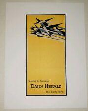 """Daily Herald Newspaper Poster 1919 Edward Kauffer Art Work Reprint 9.5""""x12.5"""""""