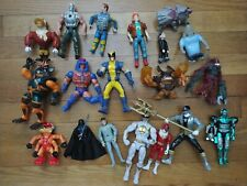 Action figure lot vintage toys He-man power Rangers wolverine Darth planet duckt