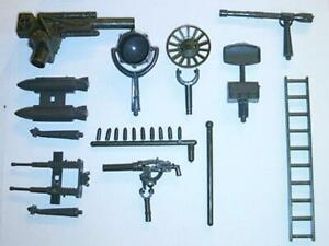 "Ideal ID-JGL ""Ship & Vehicle Accessories 15 pcs (Green)"" 1/32 Plastic Toys"