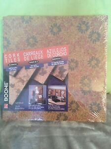 Boone Cork Tiles 4 Pack With Decorative Cork Surface
