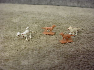 HO scale painted set dogs Set of 4 animals