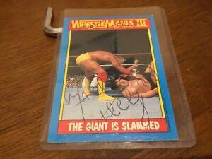 Andre The Giant & Hulk Hogan Signed 1987 Topps Wrestling Wrestlemania III Card