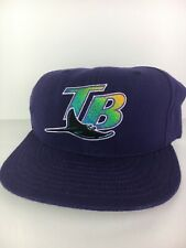 Vintage 90s Tampa Bay Devil Rays New Era Fitted Hat Size 6 7/8 - Made In USA