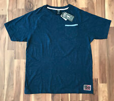 Crooks & Castles Wefty Speckled Tee T Shirt NAVY Men's Size L BRAND NEW!