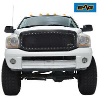 EAG Black Steel Mesh Replacement Grille Shell Fit 06-08 Dodge Ram 1500 2500 3500