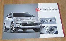 CITROEN C-CROSSER 2008-09 UK brochure VTR VTR + Code Exclusif
