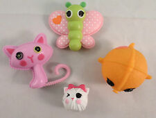 Lalaloopsy Lot of 4 Pets from Large Dolls cat and mouse mermaid butterfly toys