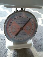 Vintage American Family Nursery BABY SCALE TRAY 1950's White PHOTO PROP
