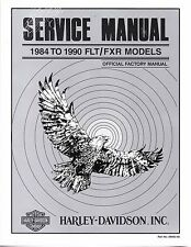 1984-1990 Harley FLT / FXR Service Repair Shop Workshop Manual Book 99483-90