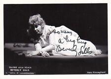 BEVERLY SILLS opera soprano signed photo as Lucia - Piccagliani