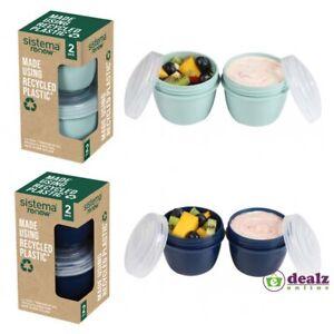 Sistema Renew Yogurt Set Microwave Containers 150ml Pack of 2 BPA Free