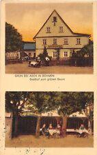 AK Gasthof zum grünen Baum Grün bei Asch in Böhmen Postkarte vor 1945