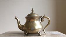 Antique Small Heavy Decorative Tea Pot Marked Base G.R.C EPNS Barn Salvage