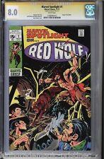 Marvel Spotlight #1 Cgc 8.0 White Ss Stan Lee Origin Of Red Wolf #1206485013