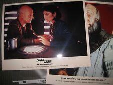 """Vintage Lot of 2 color Star Trek 8x10"""" Publicity Photos the next Generation Vi"""