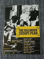 THE DILLINGER ESCAPE PLAN - 2004 AUSTRALIA TOUR - LAMINATED PROMO TOUR POSTER