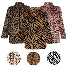 Janice Apparel Mujer Imitación Piel Animal Print Guepardo Tigre Cremallera Chaqueta