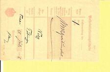 Pr Front / Traar Handwritten. a.Postschein 1906