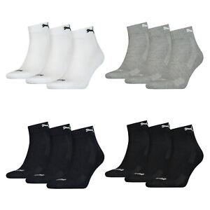 6 Paar Puma Quarter Socken mit Frottee-Sohle 35-46 Unisex Cushioned Kurzsocken